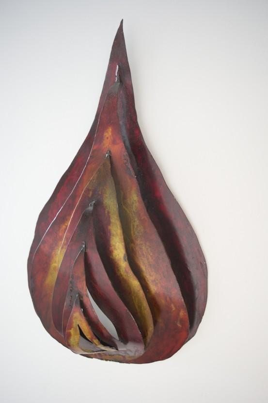 Agni DIvine Fire Yoga art wall sculpture