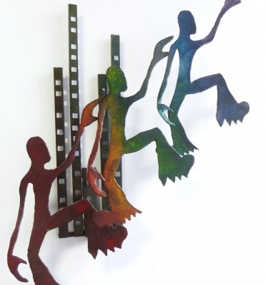 accession wall sculpture New York City metal wall art