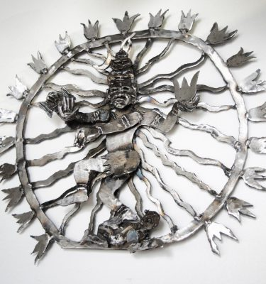 Nataraja dancing shiva metal wall sculpture