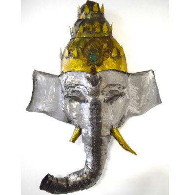 Lord Ganesha metal wall yoga art sculpture
