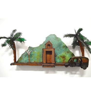 Arunachala mountain wall sculpture