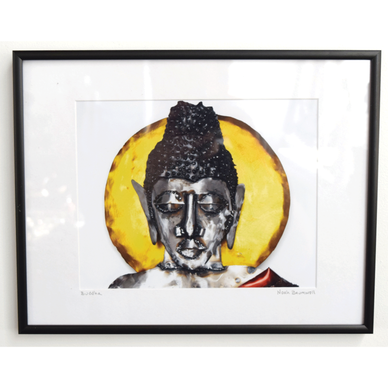 Framed Photo Print Buddha Sculpture (Closeup) - Noah Art