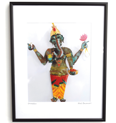 Framed Ganesha photo print