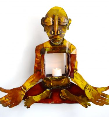 meditating yogi sculpture