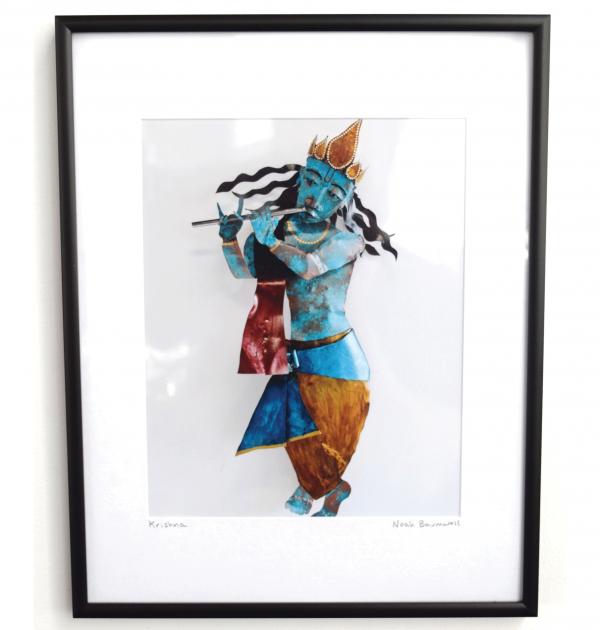 8 x 10 framed photo Krishna wall sculpture by Noah Baumwoll