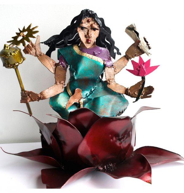 Siddhidatri Ma metal sculpture celebrated on the ninth night of Navratri