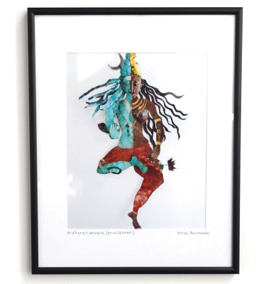 Photo print Shiva Shakti Ardhanariswara Welded Steel wall sculpture