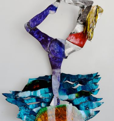 Yoga asana wall sculpture