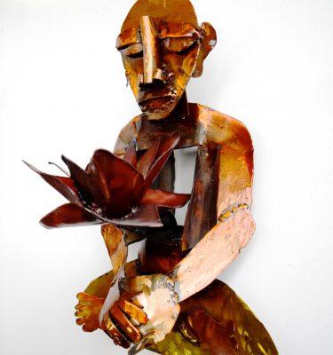 Yogi-Sculpture-red-lotus